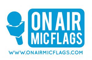 ON AIR MIC FLAGS LOGO