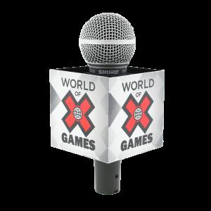 X GAMES ESPN SQUARE MIC FLAG