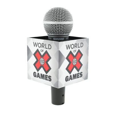 X GAMES ESPN SQUARE MIC FLAG