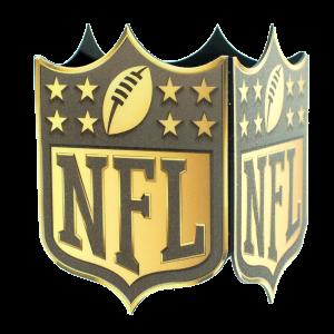 NFL GOLD MIC FLAG CUSTOM CONTOUR