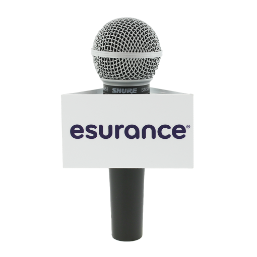 ESURANCE Custom Triangle Mic Flag