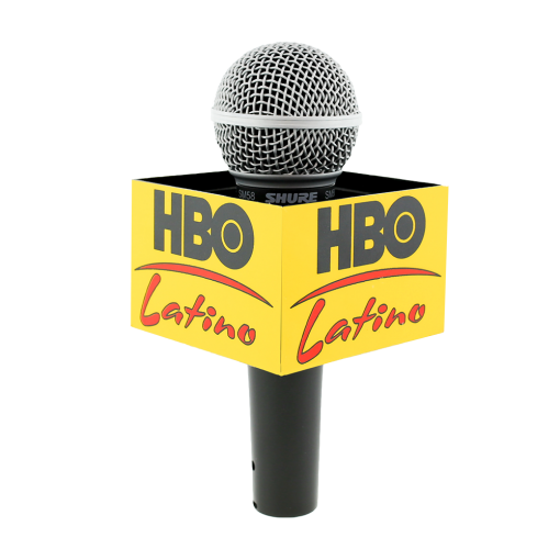 HBO LATINO Rectangle Mic Flag