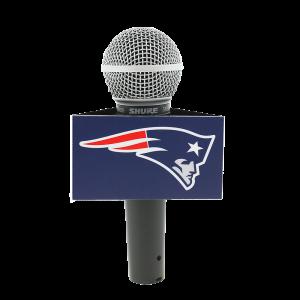 New England Patriots Custom Mic Flag Triangle