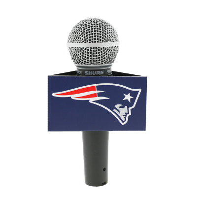 New England Patriots Custom Mic Flag Triangle