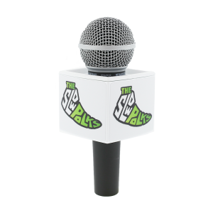 SLOW POLKS White Rycote Cube Custom Mic Flag