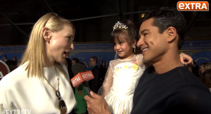 Mario Lopez on Cinderella Red Carpet MIC FLAG