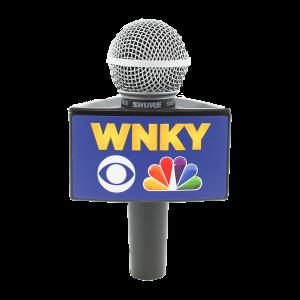 WNKY NEWS BLACK RYCOTE TRIANGLE MIC FLAG