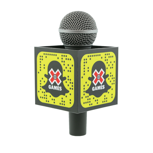 XGAMES SNAP CHAT ESPN SQUARE MIC FLAG