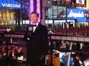 Ryan Seacrest Rockin New Years Eve Mic Flag