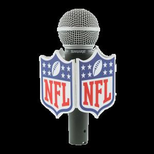 NFL FOOTBALL CUSTOM MIC FLAG
