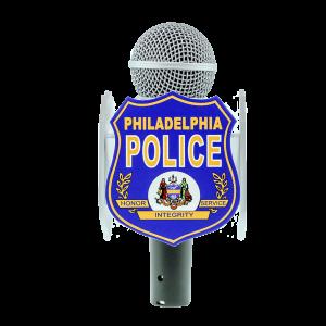 PHILADEPHIA POLICE CUSTOM MIC FLAG